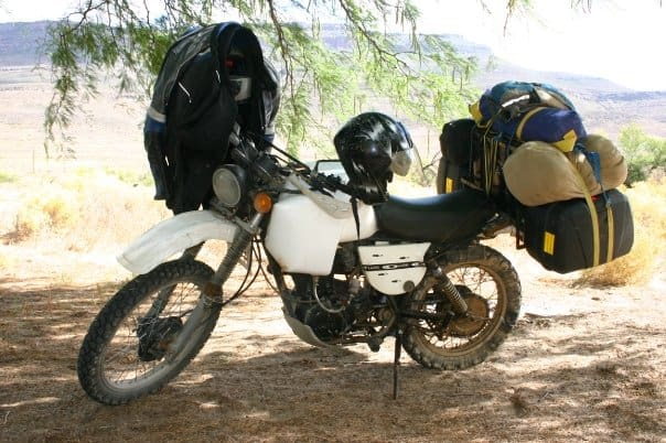 A long range tank on your bike is probably the best option for extra fuel on your motorcycle