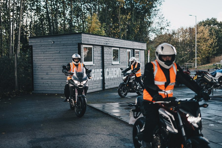 Learn to ride a motorcycle at a riding school