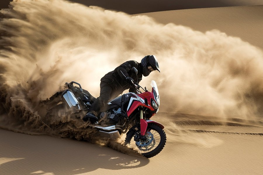 Momentum is very important when riding a bike bike in the sand