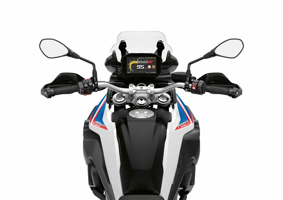 Wide handle bars of BMW R 850 GS