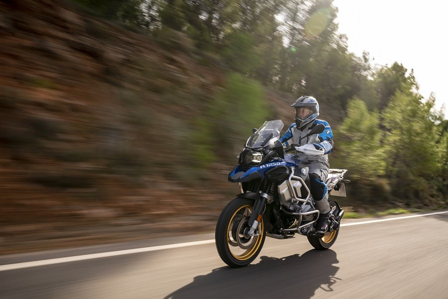 Comfortable riding position on a BMW R 1250 GS Adventure