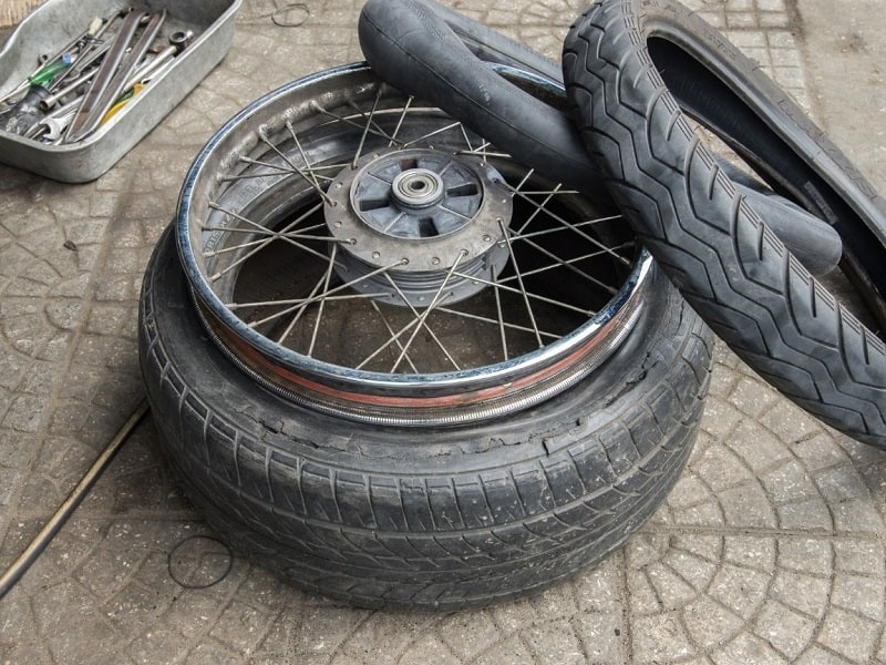 A flat tire on an adventure bike trip need not be a show stopper