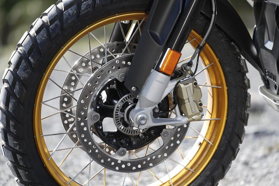 BMW R 1250 GS Adventure large front wheel makes for a more comfortable ride
