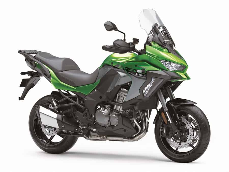 The Kawasaki has cruise control and a range of other electronic rider aids