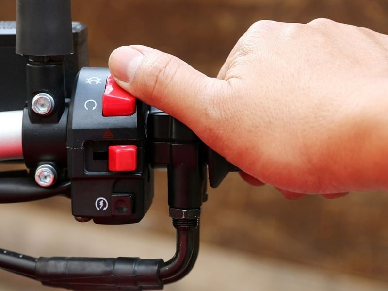 Switch the ignition on before bump starting your bike