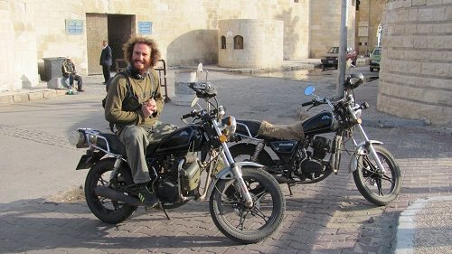 Small Chinese motorcycle in Egypt