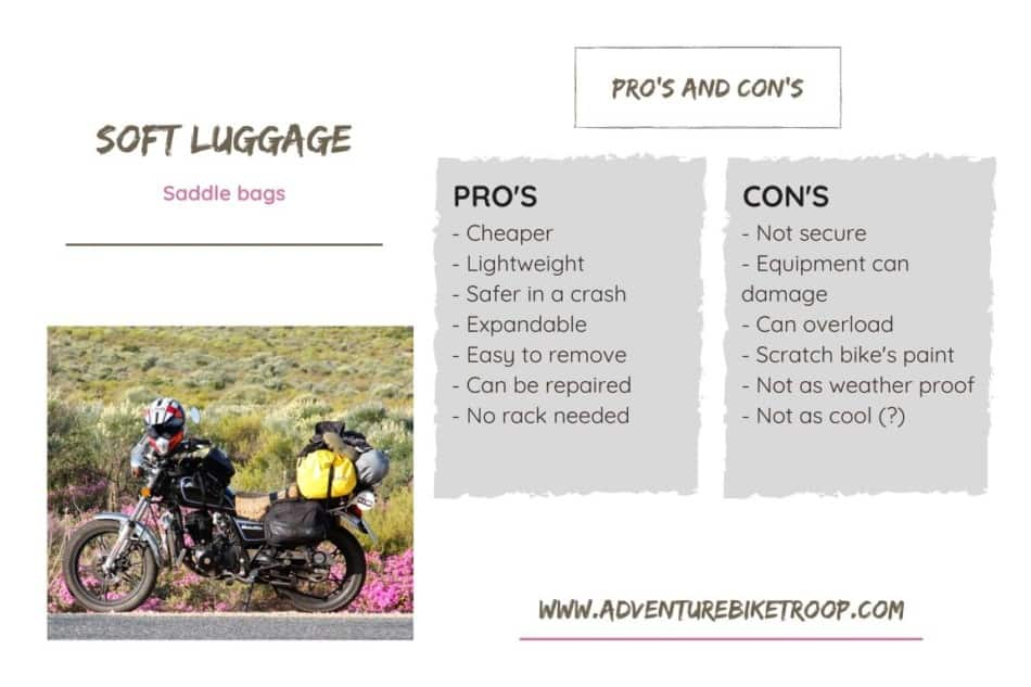 Advantages and disadvantages of soft luggage