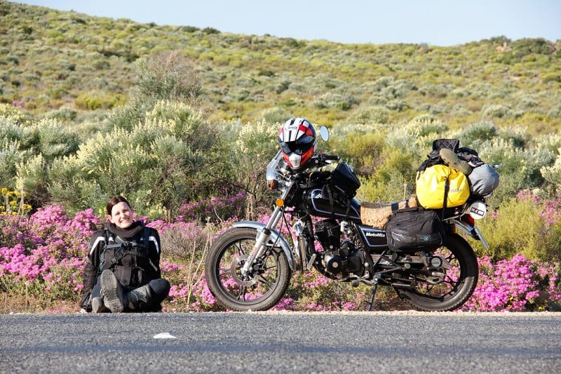 Sort luggage is ideal for a small motorcycle due to its light weight