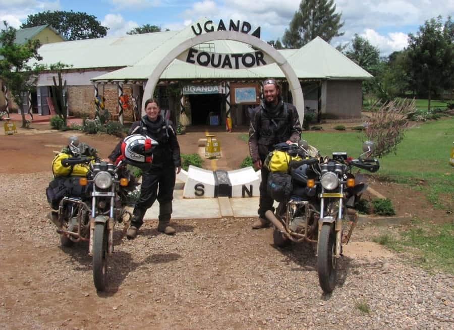 Crossing the Equator on motorcycles