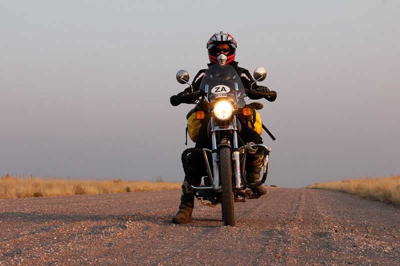 Motorcycle in Namibia