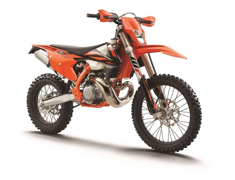 KTM 300 EXC TPI 2-stroke has liquid cooling and fuel injection