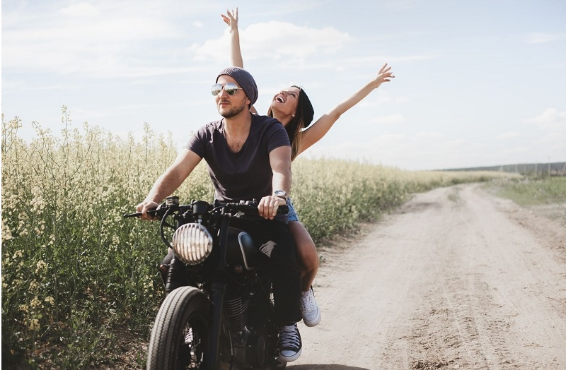Don't move around unexpectedly on the back of a motorcycle (and wear safety gear!)